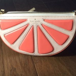 Kate Spade Flights of Fancy grapefruit crossbody
